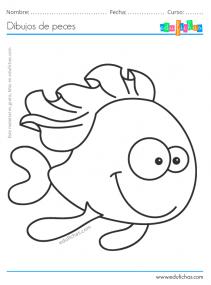 dibujos de peces graciosos