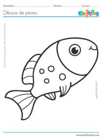peces grandes para colorear