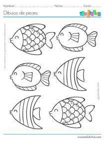 peces para pintar gratis