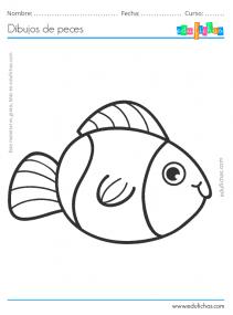 pez bonito para colorear