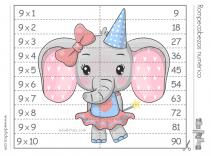 puzzle tabla del 9