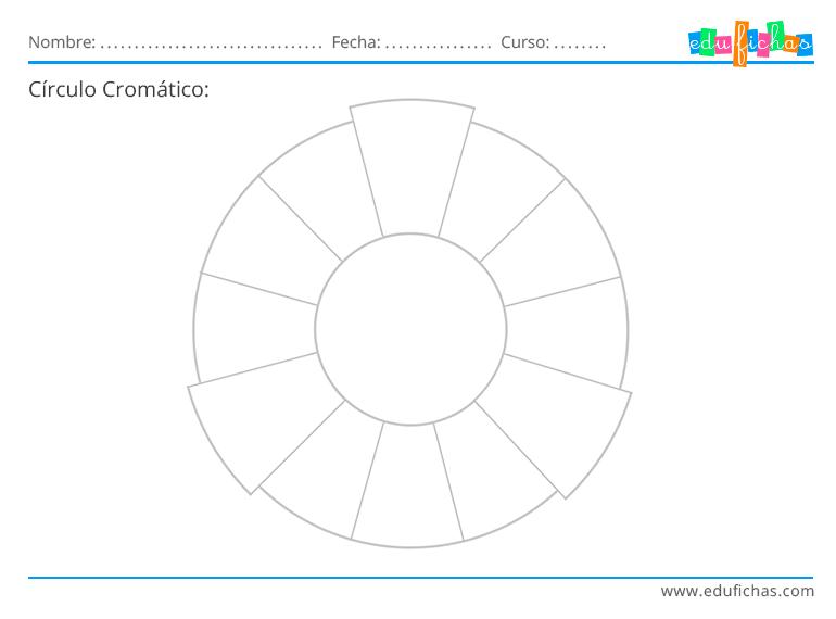 círculo cromático para niños