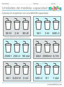 ejercicios con litros