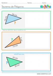 ejercicios teorema pitagoras
