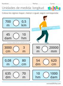 ejercicios con las unidades de longitud
