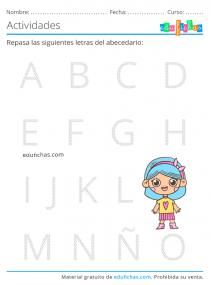 abecedario para 4 años