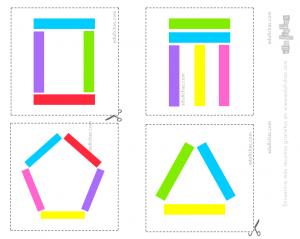 ejercicio de figuras y colores