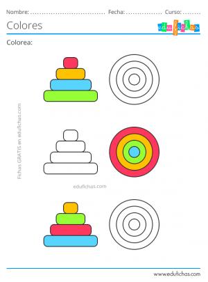 ejercicios de atención para colorear