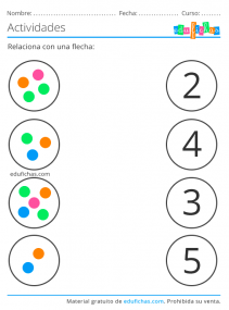 ejercicios con números del 1 al 5