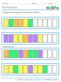 series de colores 4 años