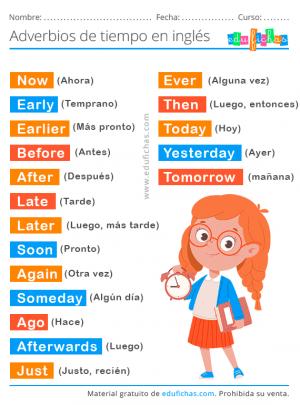 adverbios de tiempo en ingles