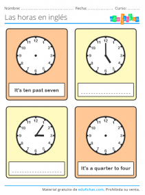 aprender las horas en ingles