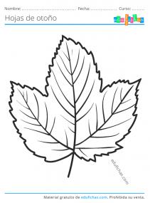 colorear hojas de otoño