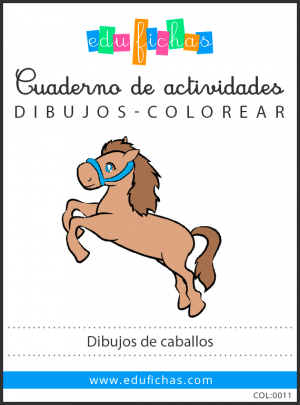 colorear caballos pdf