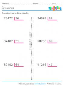 divisiones de dos cifras gratis