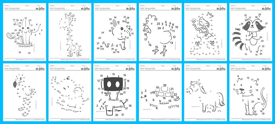 imprimir dibujos de unir los puntos