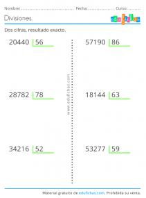 imprimir divisiones de dos cifras