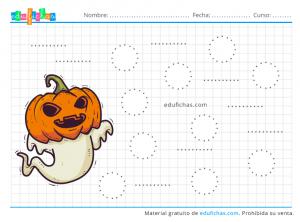 actividades grafo de halloween para infantil