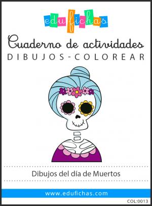 colorear dia de muertos pdf