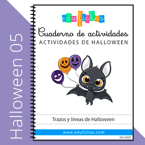 cuaderno grafomotricidad de halloween