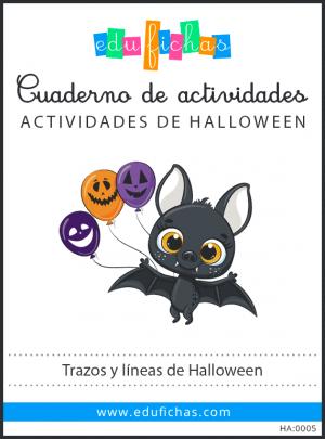 cuaderno de trazos y líneas de Halloween