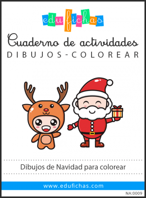 dibujos de navidad para colorear pdf