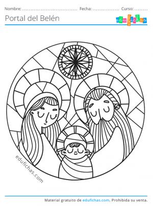 dibujos del portal de belén