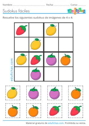 sudoku con dibujos