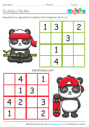 sudoku para imprimir gratis