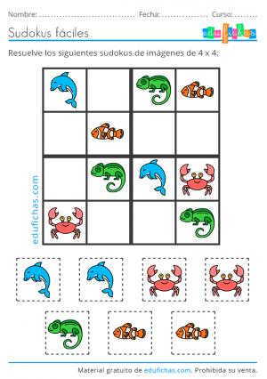 sudoku niños con dibujos
