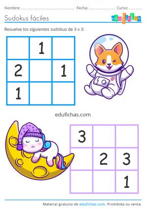 sudoku para ninos
