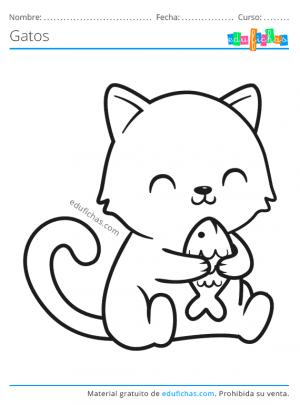 colorear gatos