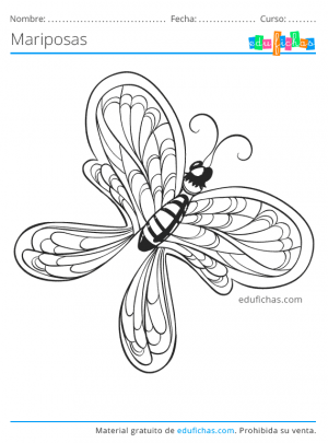 colorear mariposa