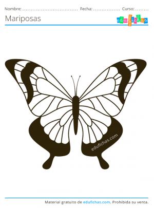 colorear mariposas gratis