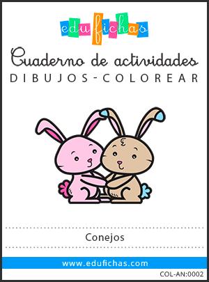 conejos para colorear PDF
