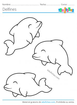 delfines dibujo