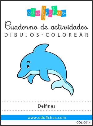 dibujos de delfines pdf