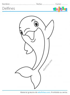 dibujos para pintar de delfines
