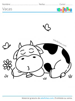 dibujos de vacas para imprimir en pdf