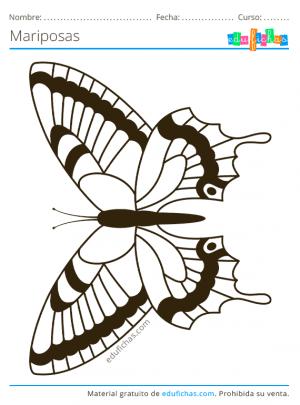 imprimir dibujos de mariposas