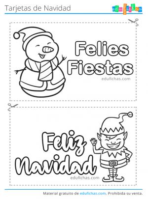 imprimir plantillas de tarjetas navideñas