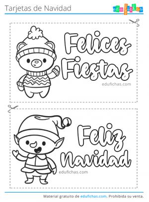 imprimir postales de navidad para niños
