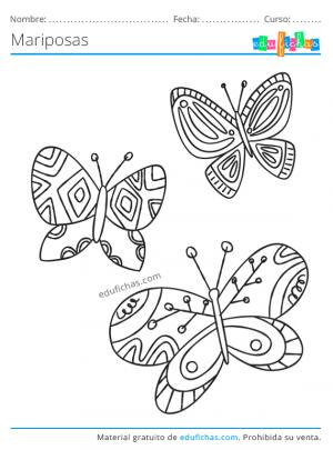 mariposas dibujo