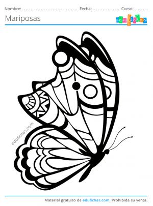 pdf dibujos de mariposas