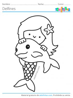 pintar dibujos con delfines