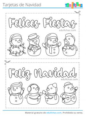 postal de navidad para pintar
