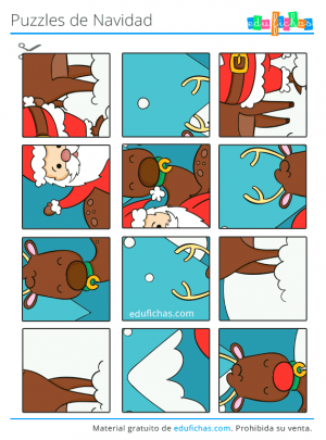puzzle de navidad gratis