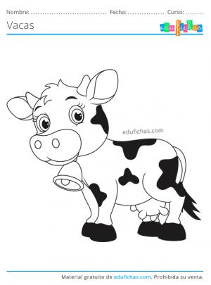 vaca colorear gratis