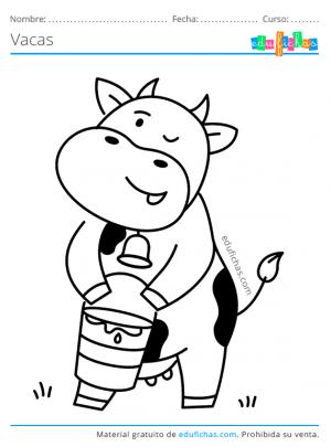 vaca lechera para colorear