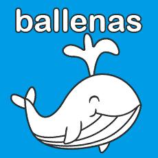 ballenas colorear
